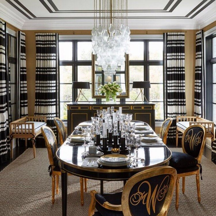 Pin On Ceilings Best dining rooms elle decor