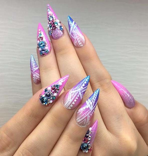 New Nails Designs Simple Line Work Nail Art Pictures Pinterest