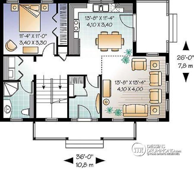 plan de rez de chausse maison style transitionnel ou chalet avec mezzanine 3 - Plan De Maison Avec Mezzanine