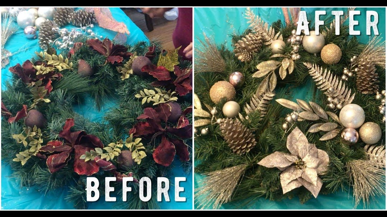 How to Refresh an Old Christmas Wreath ! (DIY) YouTube
