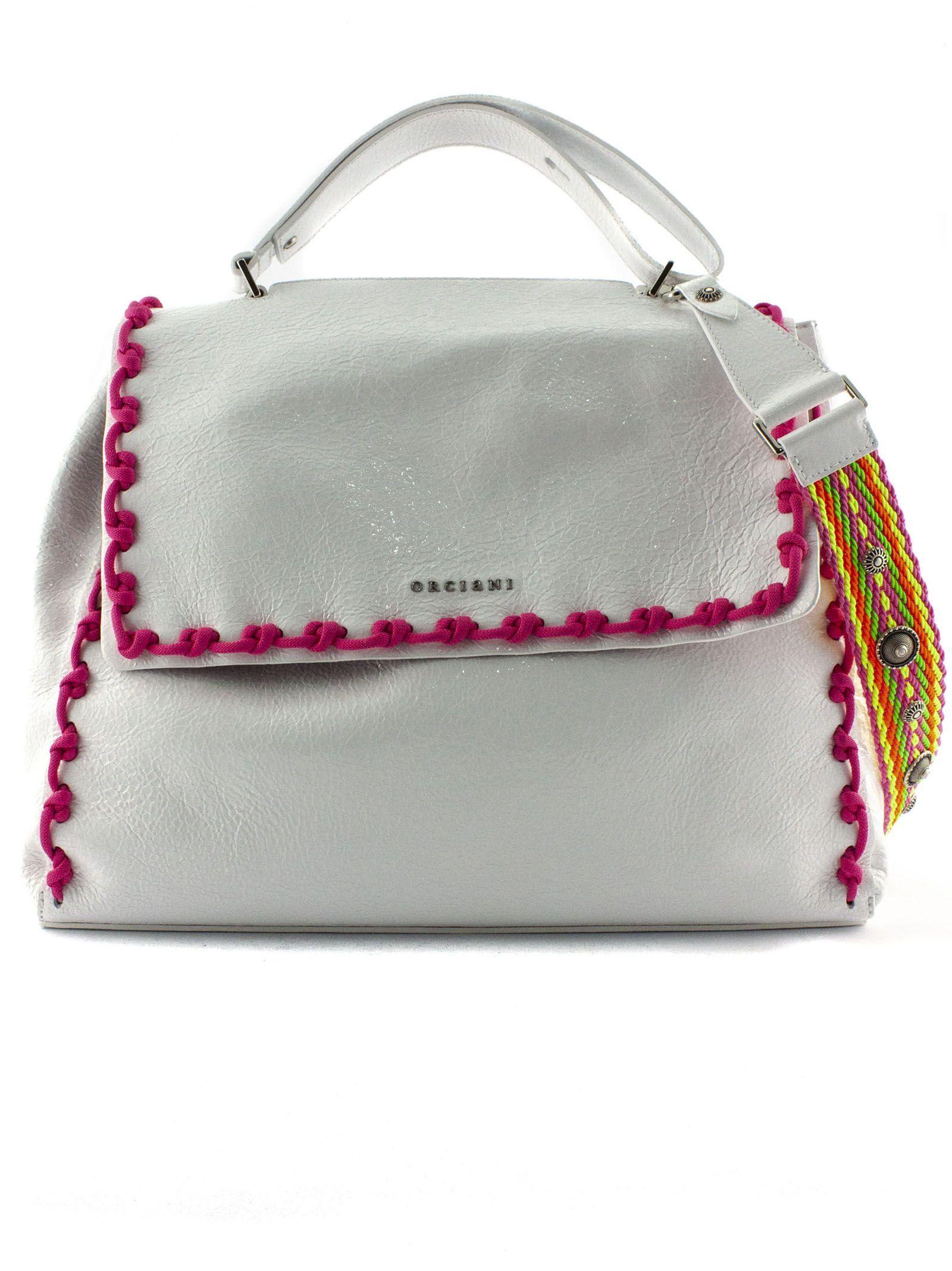 Orciani White Leather Sveva Large Bag  cba2bfdc4aa41