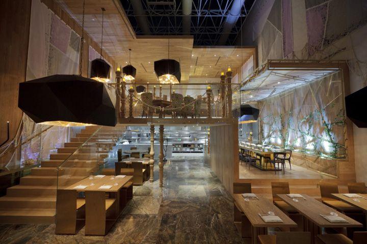 Morimoto restaurant by Schoos Design, Mexico City store design