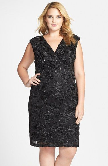 cef338b02 Marina Soutache Embroidered Lace Dress (Plus Size) available at #Nordstrom