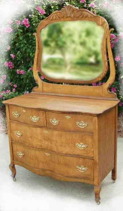 Image Detail For Oak Dresser With Swing Beveled Mirror