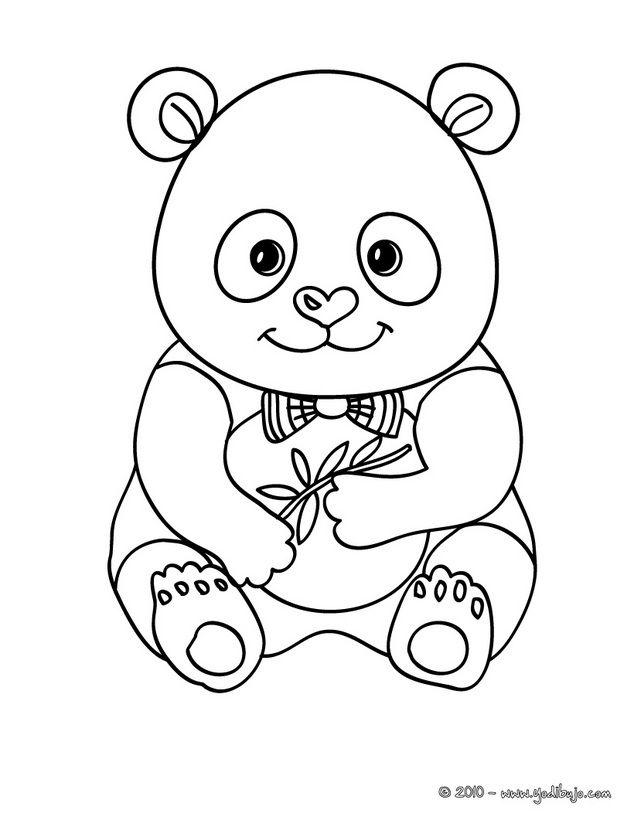 Dibujo para colorear : bebe OSO PANDA | Dibujos | Pinterest ...