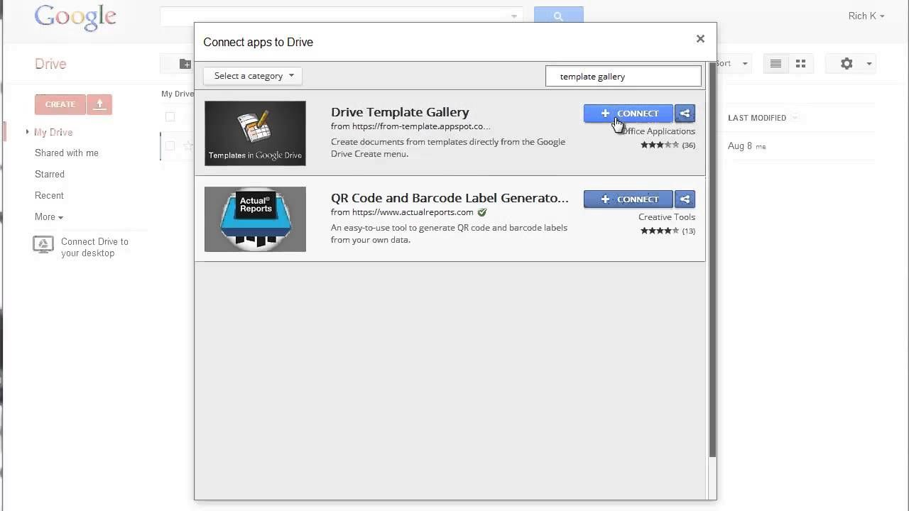 Installing The Google Drive Template Gallery Playlist Tech How