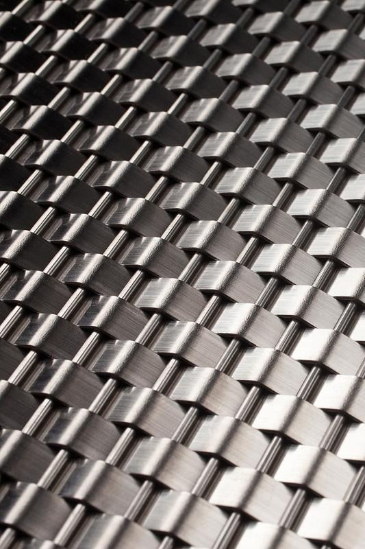 Linq Woven Metal shown with Wave CrossLinq pattern in Stainl…