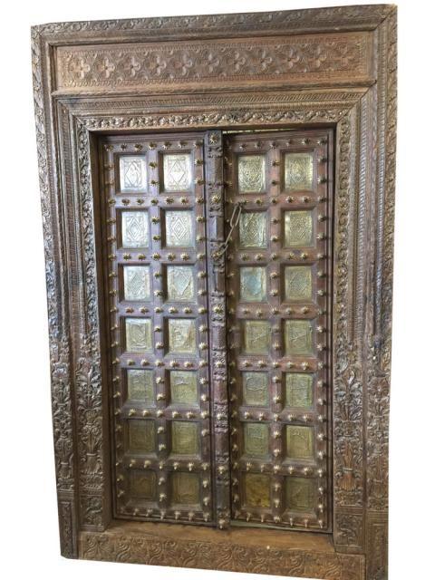 Antique Style Hand Carved Reclaimed Teak Doors Frame #antiquedoors  #vintagedoors #distresseddoors ,# - Antique Style Hand Carved Reclaimed Teak Doors Frame #antiquedoors