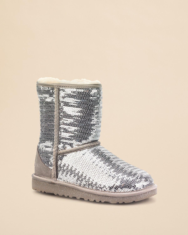 UGG® Australia Girls' Classic Sparkle Boots - Little Kid, Big Kid   Bloomingdale's
