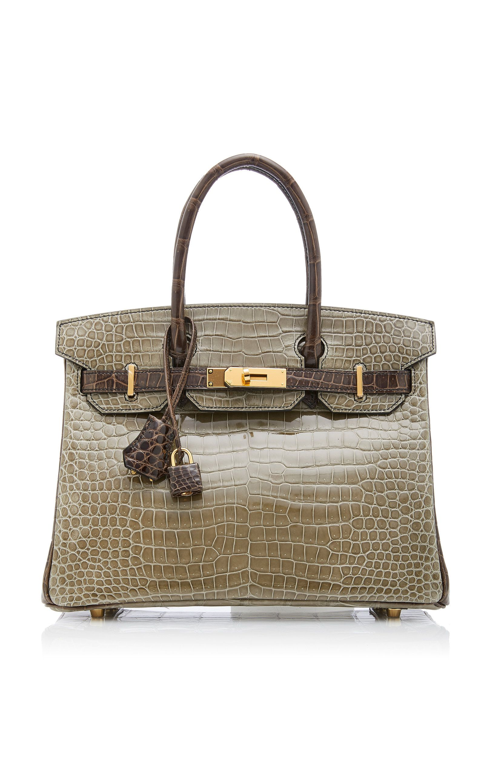 9cbe0b4031dd Hermès 30cm Gris Elephant and Gris Tourterelle Crocodile Birkin by HERMÈS  VINTAGE BY HERITAGE AUCTIONS for Preorder on Moda Operandi