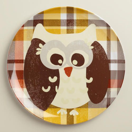 Cost Plus World Market Fall 2016 Collection: Owl Melamine Plates At Cost Plus World Market >>
