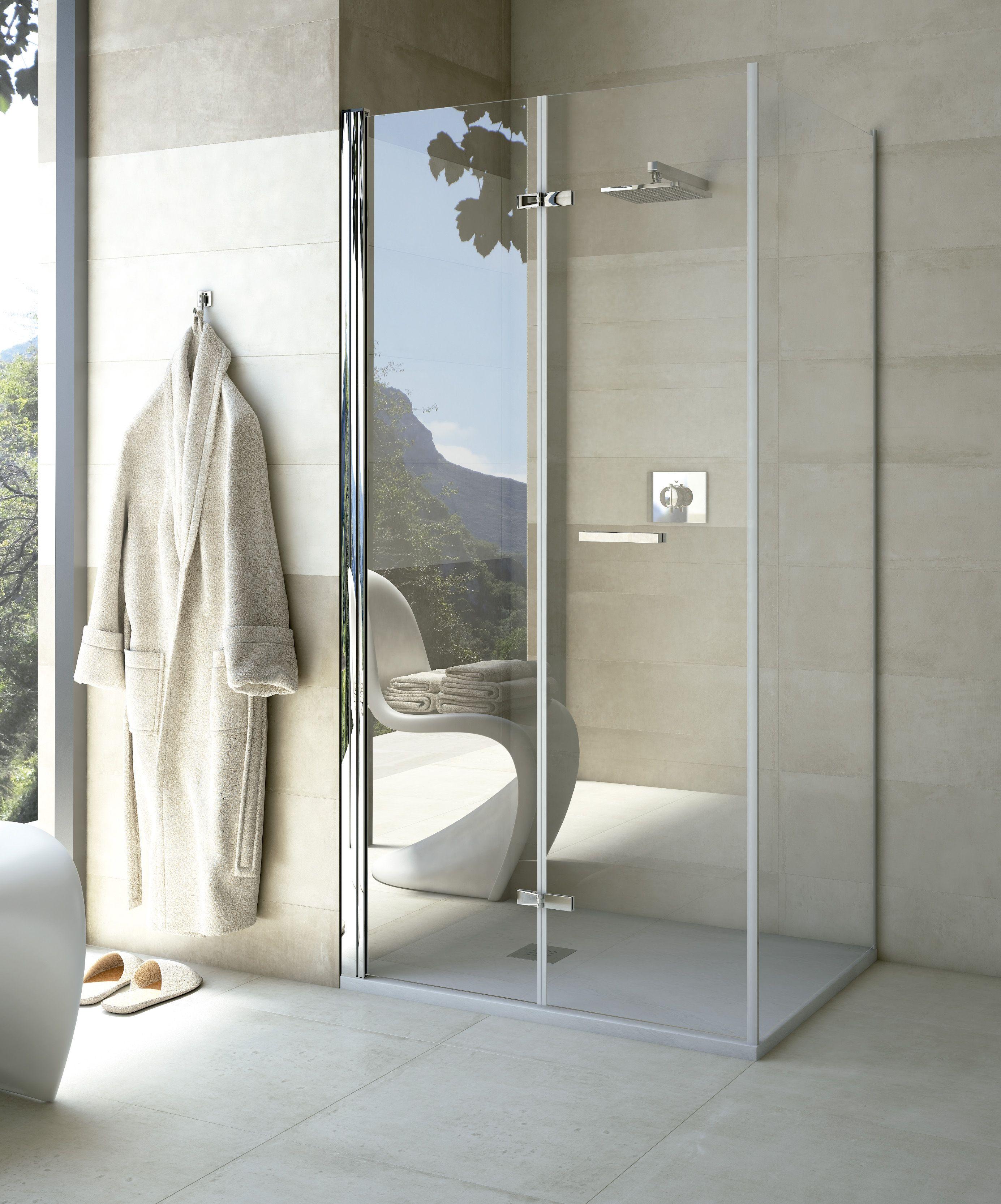 Mamparas plegables rectangular Aqua (1 puerta + 1 fijo ...