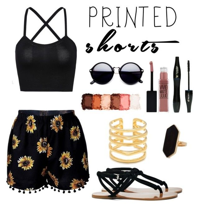 """""""Printed short #1"""" by leafashionpro on Polyvore featuring mode, Sole Society, NYX, Lancôme, Maybelline, Stella & Dot, Jaeger et printedshorts"""