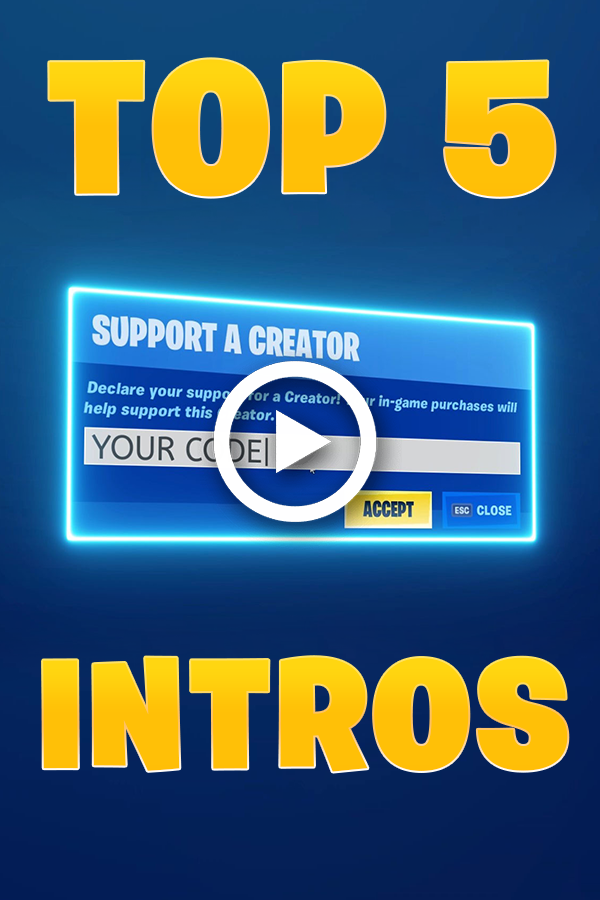 Williamyeslem I Will Make The Best 3 New Fortnite Support A Creator Intros For 10 On Fiverr Com Intro Intro Youtube The Creator
