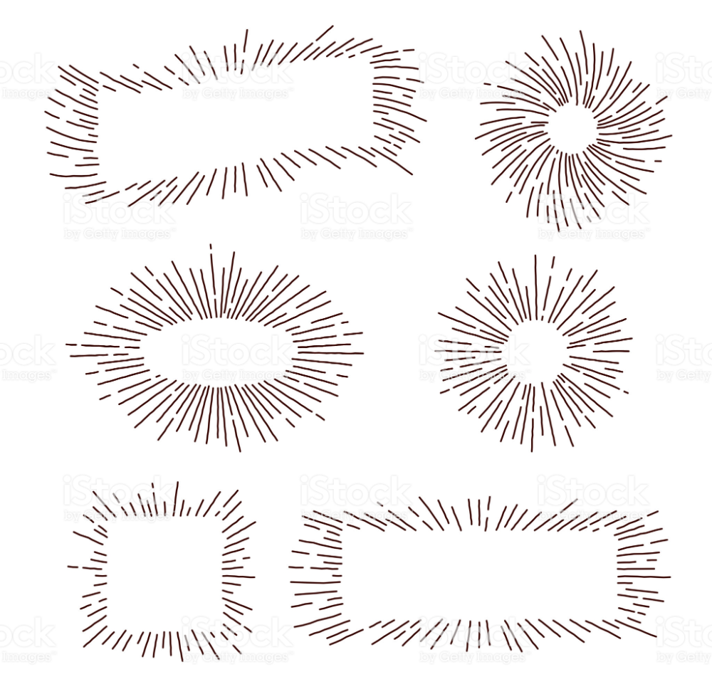 Retro Starburst Set Free Vector Art Starburst Print Designs Inspiration