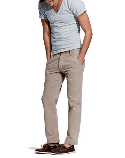 T-shirt by American Apparel. Khakis by Gap. Boat Shoes by Sperry ...