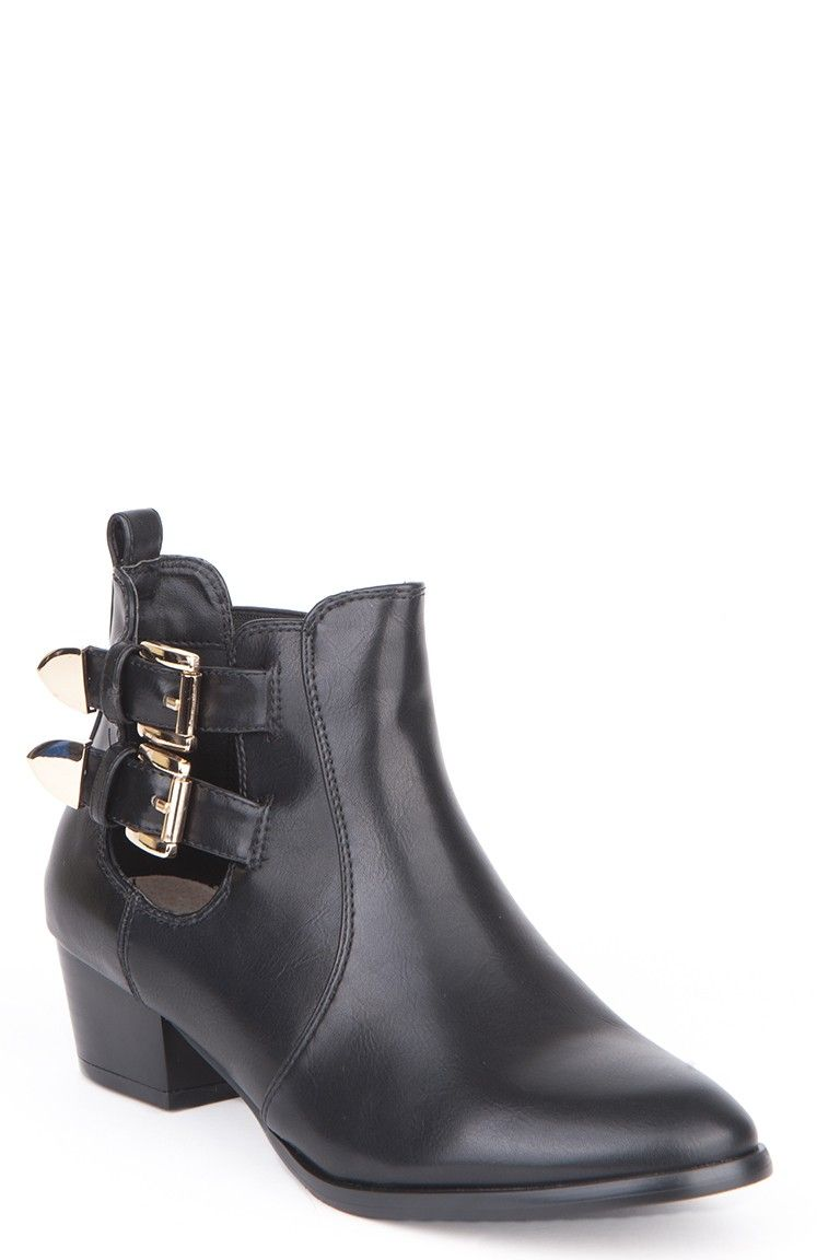 Buckle Detail Chelsea Boots - Black