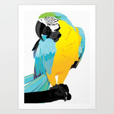 Oscar  Art Print by Nicholas Darby - $18.00