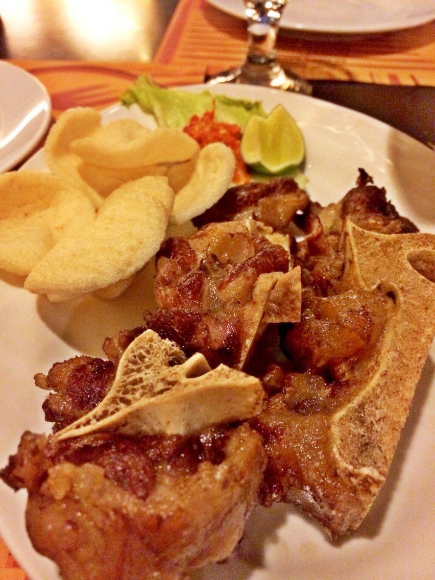 Sop buntut ELMi hotel at surabaya Food street, Food