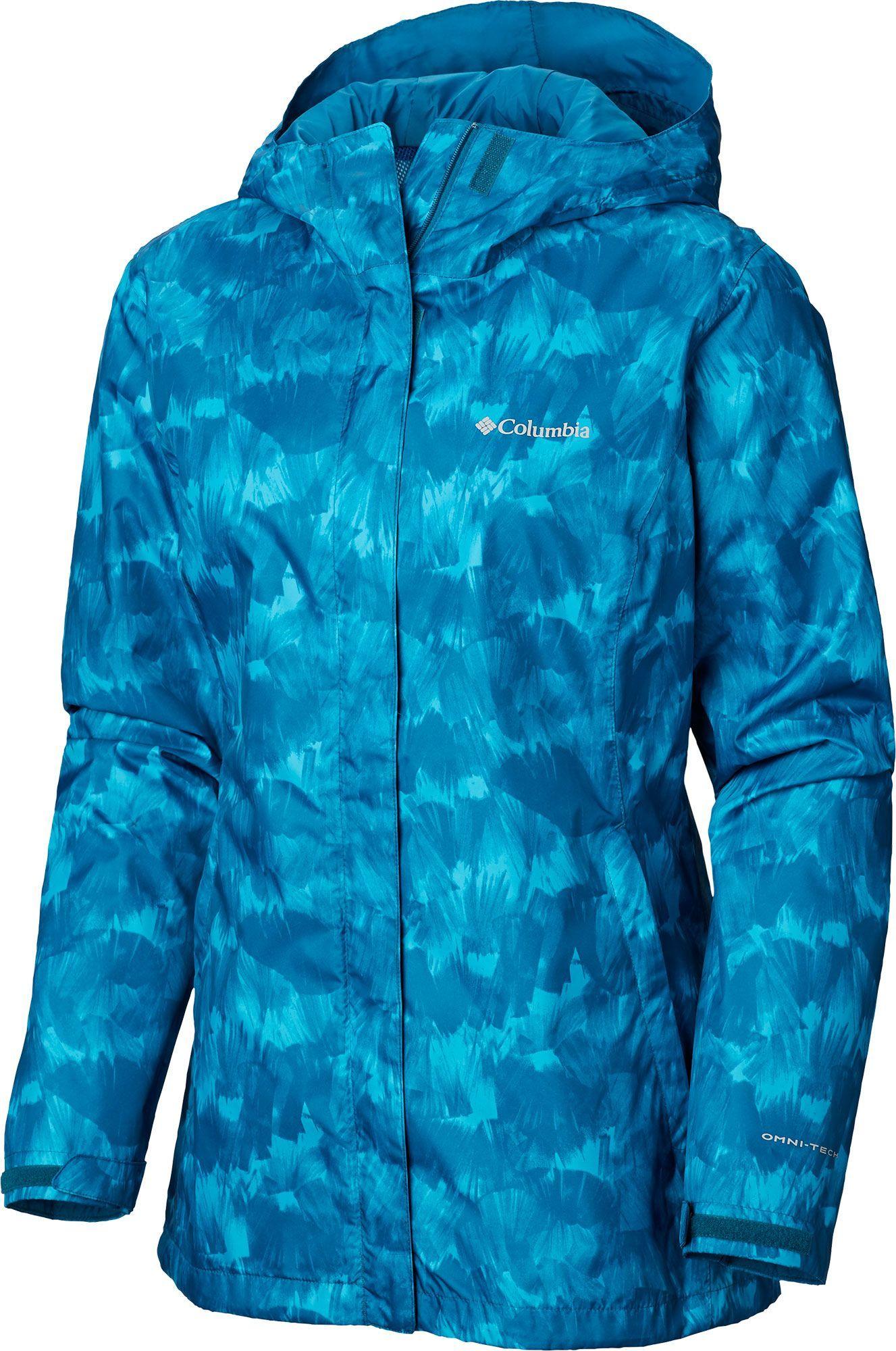 Columbia Women S Arcadia Print Rain Jacket Size Medium Siberia Quartz Print Rain Jacket Jackets Columbia