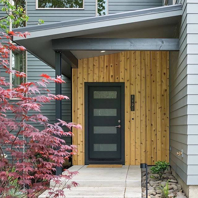 One Car Garage With Lap Siding 69471am: Vertical Cedar Blends Perfectly With @james_hardie Lap