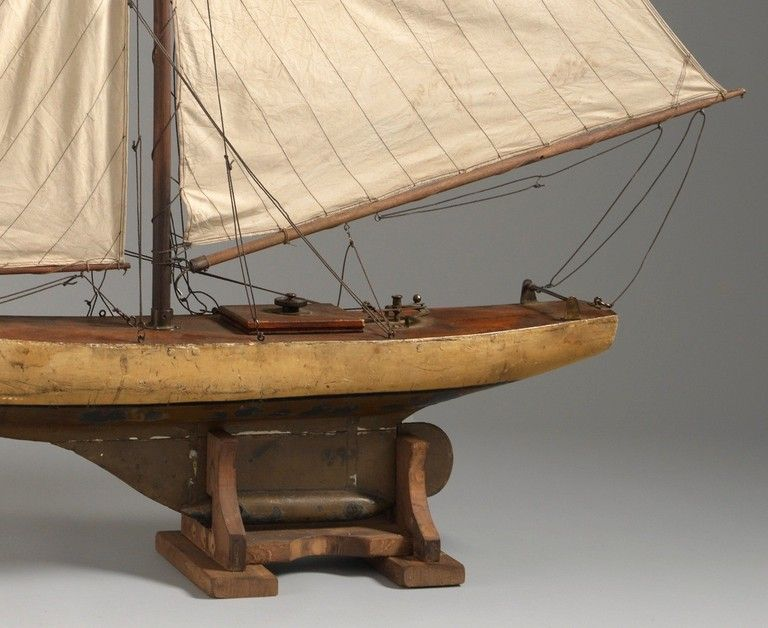 Large Vintage Pond Yacht | Pond and Miniatures