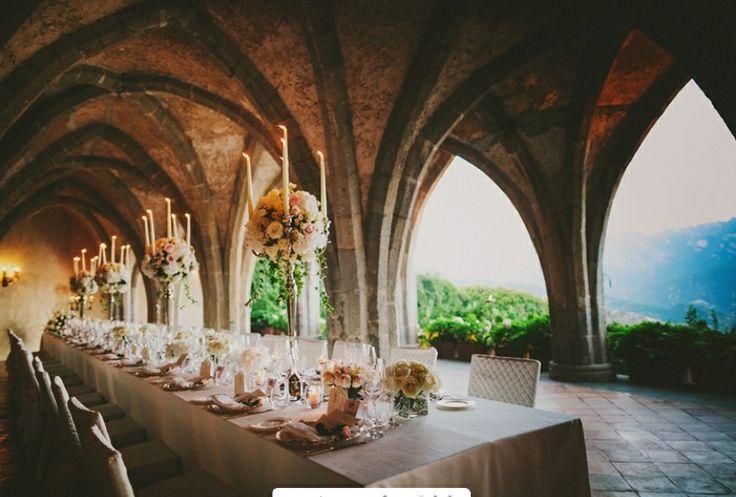 Reception Luxuriousweddings Ravello Weddings Crypt Villacimbrone