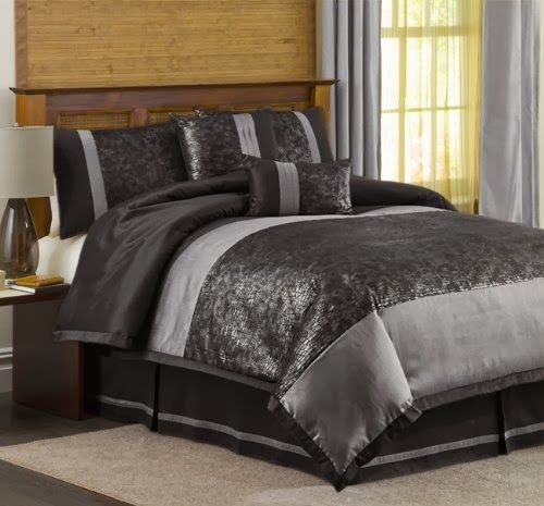 Black And Silver Bedding Sets With Images Comforter Sets