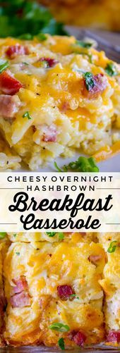 Cheesy Overnight Hashbrown Breakfast Casserole from The Food Charlatan This Che
