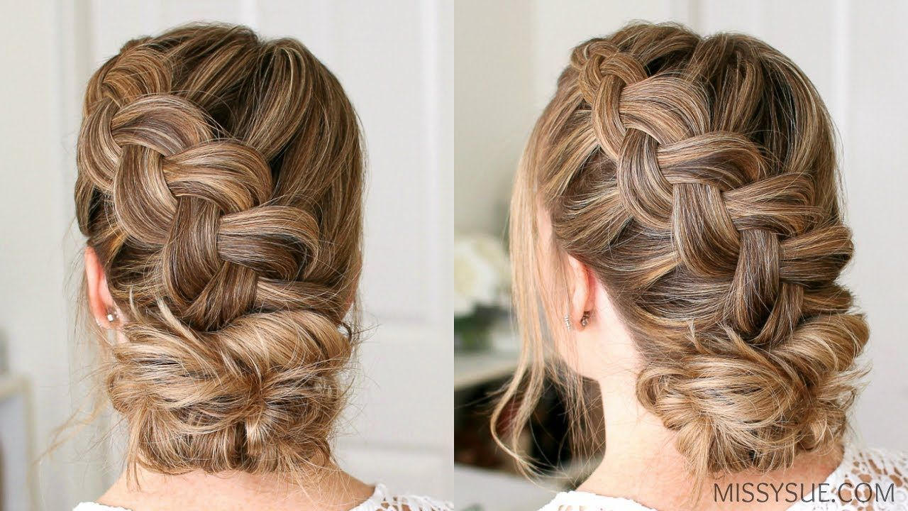 Dutch Braid And Low Bun Missy Sue Hair Styles Braided