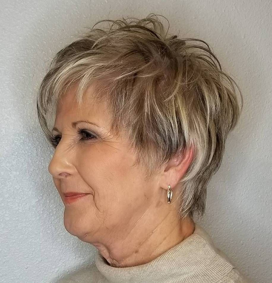 Beauty Has No Age That Is Why Every Woman In Her 50s Can And Should Sport Any Hairstyle She Shaggy Short Hair Haircuts For Fine Hair Short Hair Older Women