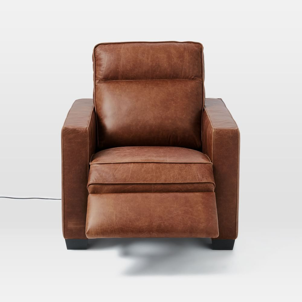 Outstanding Henry Leather Power Recliner Chair West Elm Recliner Ncnpc Chair Design For Home Ncnpcorg