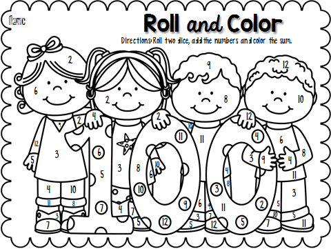 100th Day Of School Clip Free Clip Art Black And
