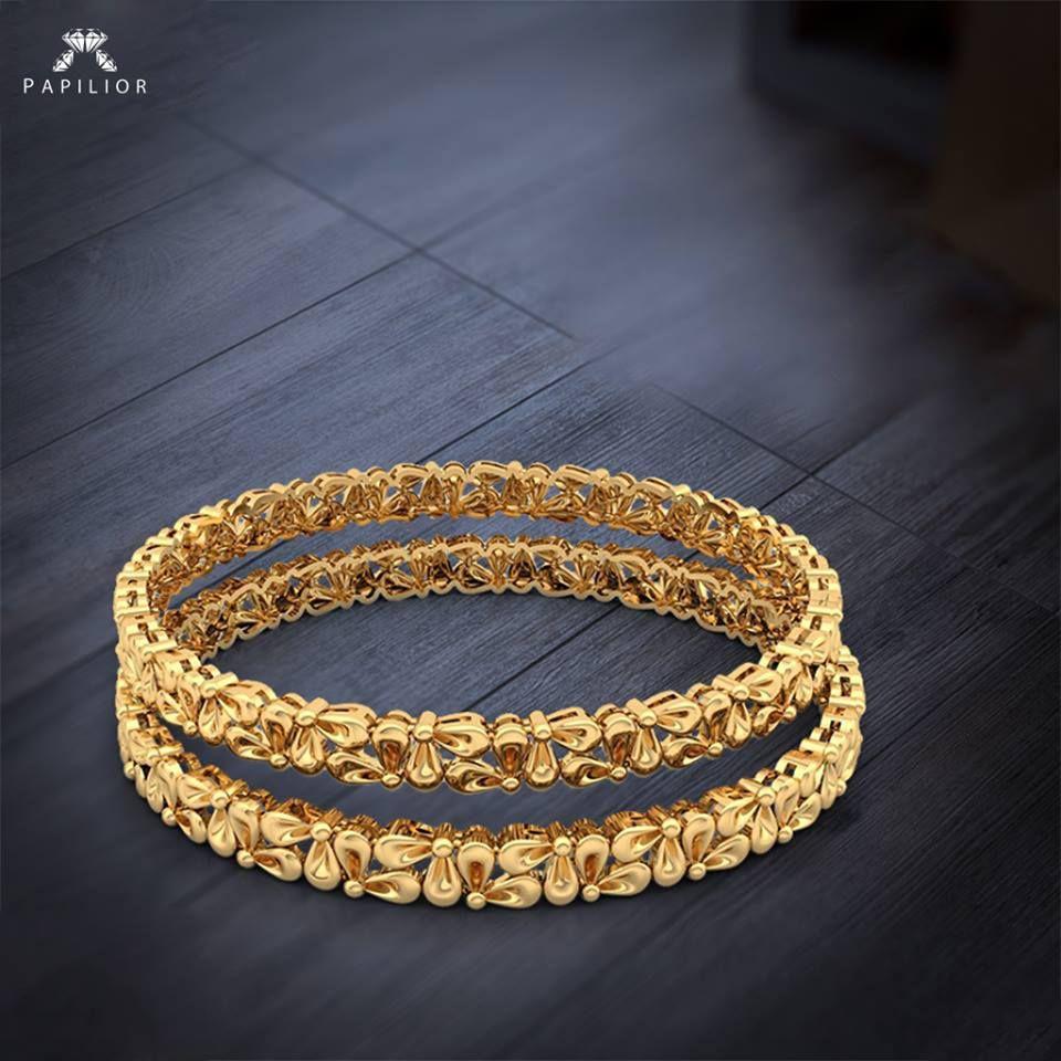 Tiara gold bangle round flower design gold bangle beautiful gold