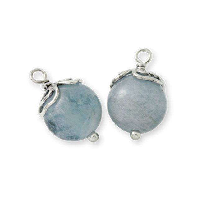 Pandora Something Blue With Aquamarine Compose Earring Charms
