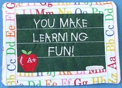 Teachers Change Mug Rug - 5x7 | In the Hoop | Machine Embroidery Designs |  SWAKembroidery