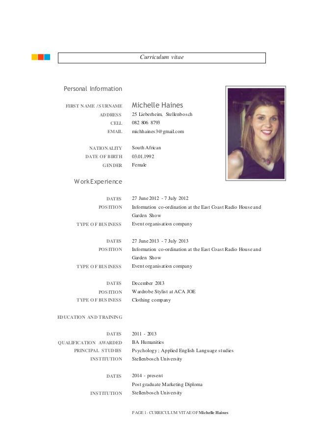 Flat Resume CV Template