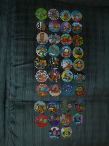 Garfield Flintstones Lucky Charms Superman DC Comics Pogs