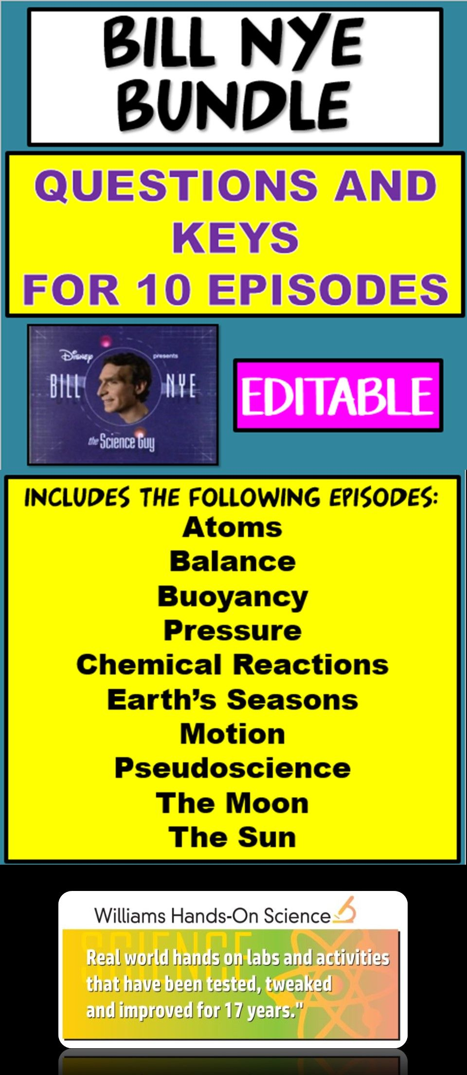 Bill Nye Bundle Science Teaching Resources Science Bundle Bill Nye