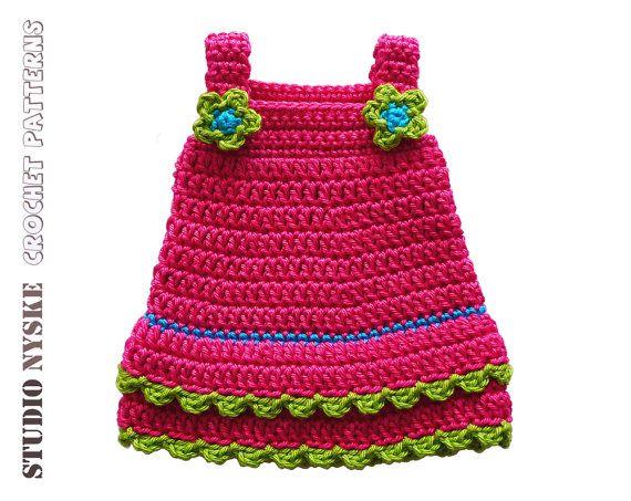 Puppe Kleidung Mädchen, häkeln Muster große 3 Kleid Rosa, Amigurumi ...