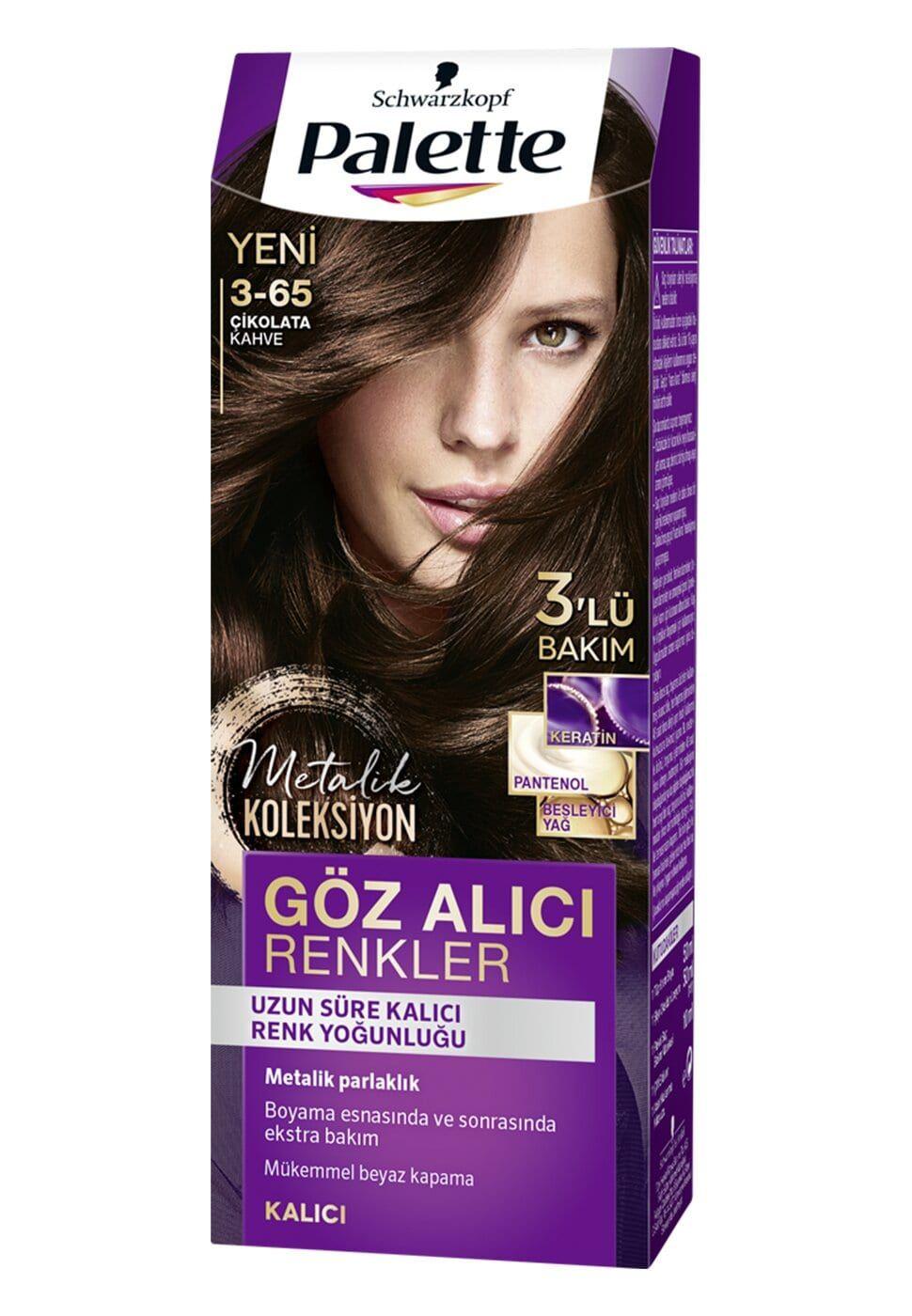 Schwarzkopf Palette Yogun Goz Alici Renkler Sac Boyasi 3 65