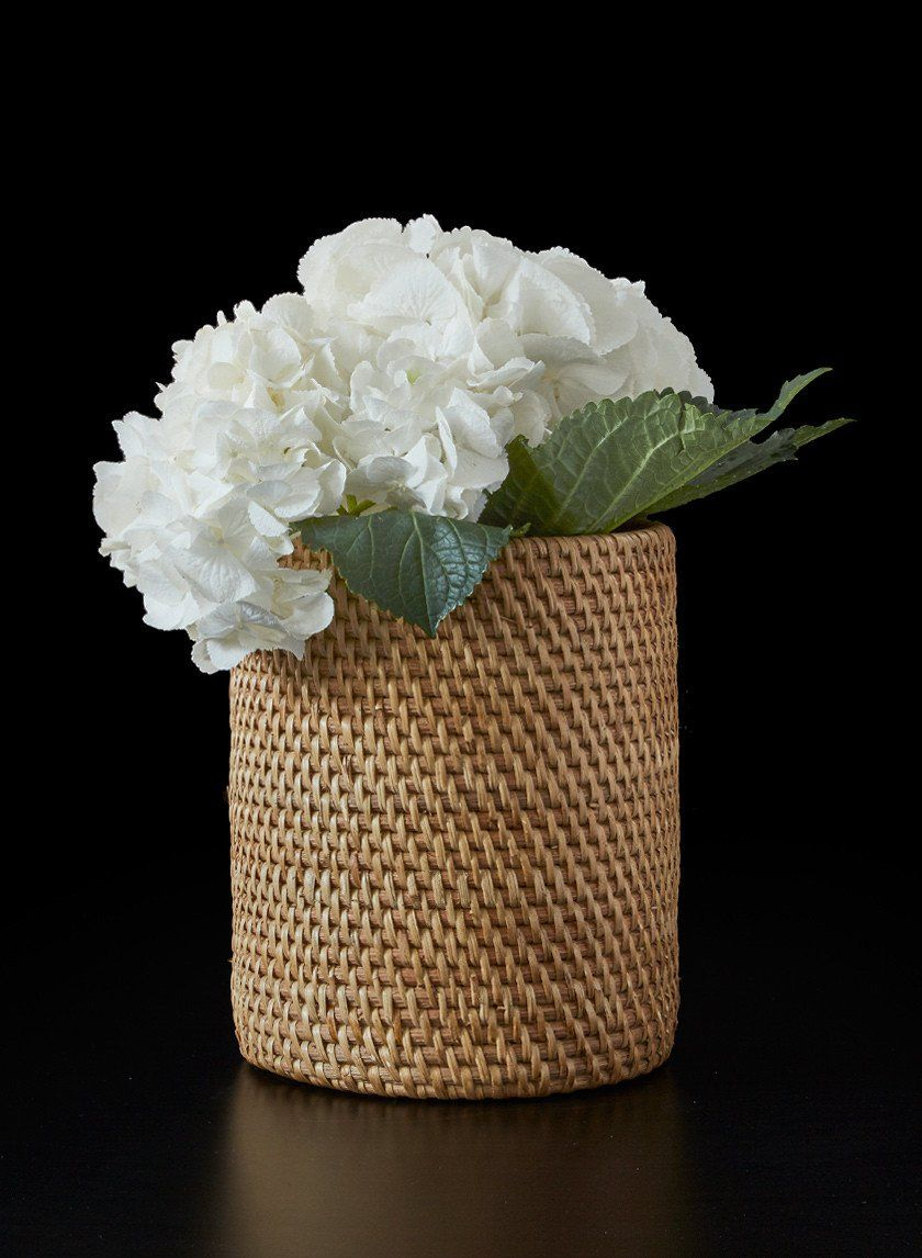 Rattan vase with glass insert wedding centerpieces centerpieces woven natural rattan cylinder glass vase decorative fall winter wedding event seasonal centerpiece nyc florist party supplies tv set movie stage props junglespirit Image collections