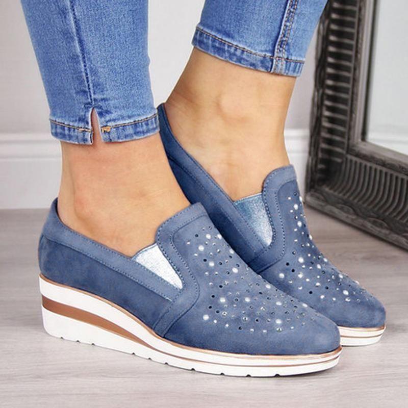 Women Shining Casual Slip-on Sneaker