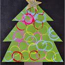Washi Tape Christmas Tree Craft (Fine Motor Practice)