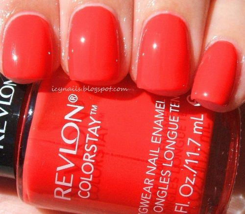 Revlon ColorStay Delicious. Red hot coral red jelly. Summer on my ...
