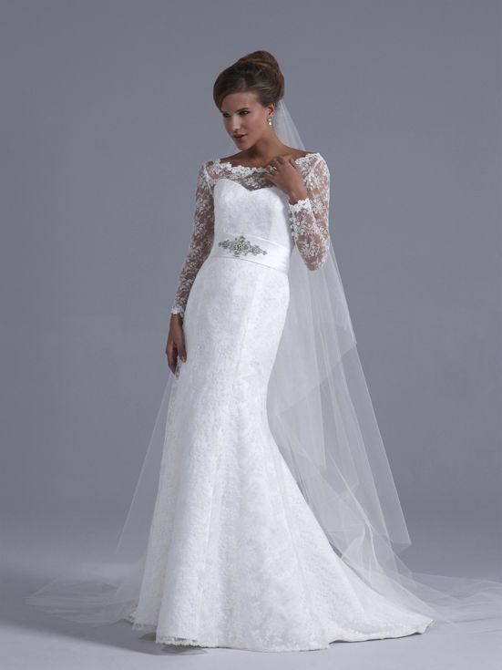 Lace fishtail wedding dress uk brides