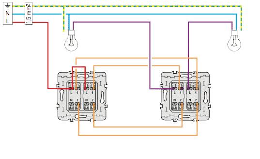 C blage electrique du double va et vient installation lectrique pinterest c blage - Branchement va et vient ...