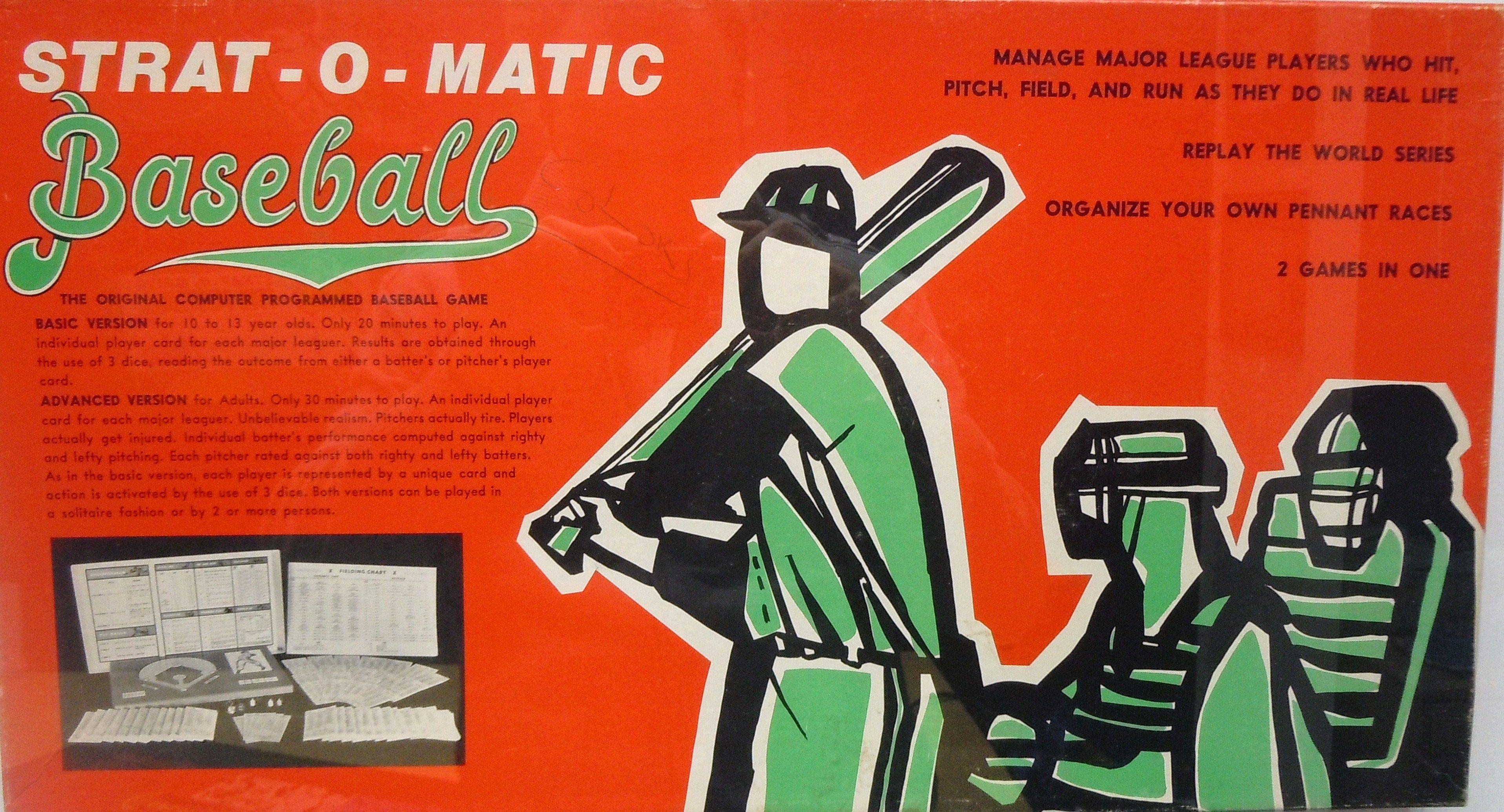 Old StratOMatic Baseball Game Box Baseball games