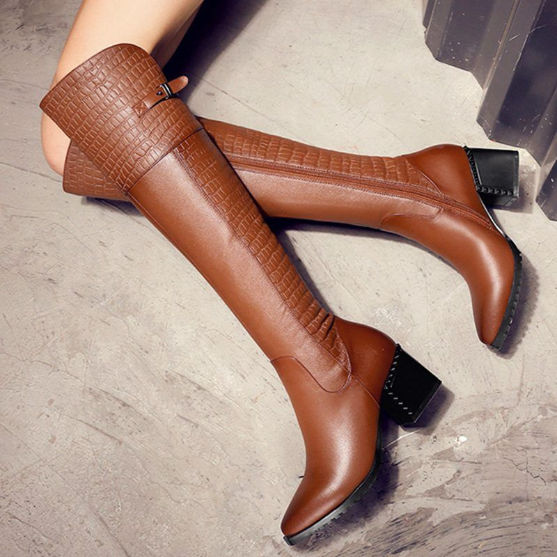 a35bca36547 Chiko Bracken Animal Print Knee High Boots
