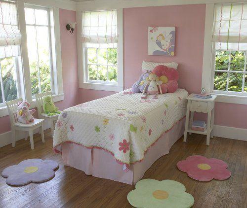 Pink Flower Area Rug For Kids Girls Room, Girls Area Rugs, Girls Room U0026